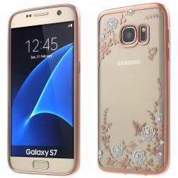 """""""Nature"""" silikoninis skaidrus dėklas, rožinis (Galaxy S7)"""