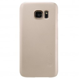 """""""Nillkin"""" Frosted Shield dėklas - auksinis + apsauginė ekrano plėvelė (Galaxy S7)"""