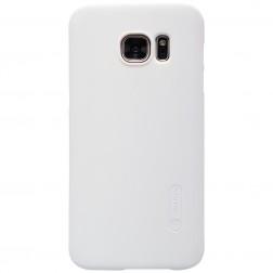 """""""Nillkin"""" Frosted Shield dėklas - baltas + apsauginė ekrano plėvelė (Galaxy S7)"""