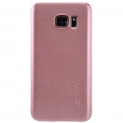 """""""Nillkin"""" Frosted Shield dėklas - rožinis + apsauginė ekrano plėvelė (Galaxy S7)"""