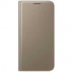 """""""Samsung"""" Flip Wallet Cover atverčiamas dėklas - auksinis (Galaxy S7)"""