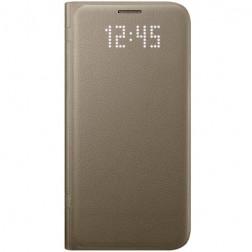 """""""Samsung"""" Led View Cover atverčiamas dėklas - auksinis (Galaxy S7)"""