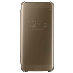 """""""Samsung"""" Clear View Cover atverčiamas dėklas - auksinis (Galaxy S7)"""