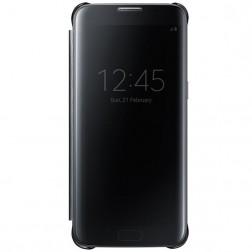 """""""Samsung"""" Clear View Cover atverčiamas dėklas - juodas (Galaxy S7)"""
