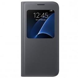 """""""Samsung"""" S View Cover atverčiamas dėklas - juodas (Galaxy S7)"""