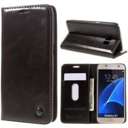 """""""CaseMe"""" solidus atverčiamas dėklas - rudas (Galaxy S7)"""