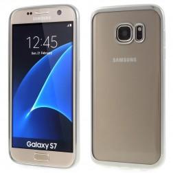 Silikoninis skaidrus dėklas, sidabrinis  (Galaxy S7)