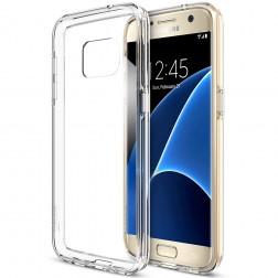 Kieto silikono (TPU) dėklas - skaidrus (Galaxy S7)