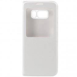 Atverčiamas dėklas su langeliu - baltas (Galaxy S8)