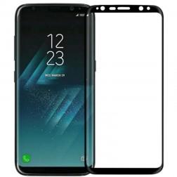 """""""Calans"""" Tempered Glass pilnai dengiantis apsauginis ekrano stiklas 0.2 mm - juodas (Galaxy S8)"""