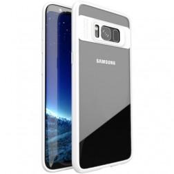 """""""IPAKY"""" Frame dėklas - skaidrus / baltas (Galaxy S8)"""