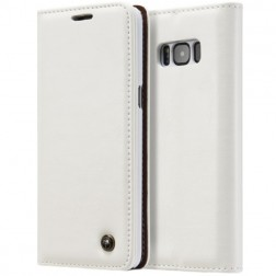 """""""CaseMe"""" solidus atverčiamas dėklas - baltas (Galaxy S8+)"""