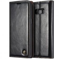 """""""CaseMe"""" solidus atverčiamas dėklas - juodas (Galaxy S8)"""