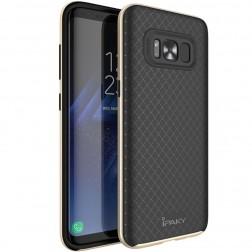 """""""IPAKY"""" kieto silikono (TPU) dėklas - juodas / auksinis (Galaxy S8)"""