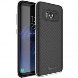 """""""IPAKY"""" kieto silikono (TPU) dėklas - juodas / pilkas (Galaxy S8)"""