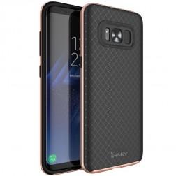 """""""IPAKY"""" kieto silikono (TPU) dėklas - juodas / rožinis (Galaxy S8)"""