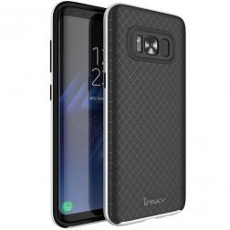 """""""IPAKY"""" kieto silikono (TPU) dėklas - juodas / sidabrinis (Galaxy S8)"""