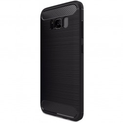 """""""Carbon"""" kieto silikono (TPU) dėklas - juodas (Galaxy S8)"""