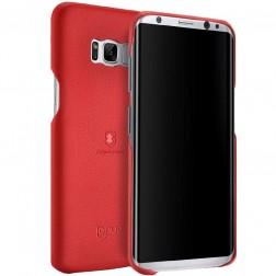 """""""Lenuo"""" Soft Slim dėklas - raudonas (Galaxy S8)"""