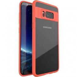 """""""IPAKY"""" Frame dėklas - skaidrus / raudonas (Galaxy S8)"""
