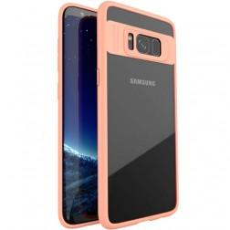 """""""IPAKY"""" Frame dėklas - skaidrus / rožinis (Galaxy S8)"""