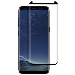"""""""PDGD 3D"""" 9H Tempered Glass pilnai dengiantis apsauginis ekrano stiklas 0.2 mm - juodas (Galaxy S8)"""