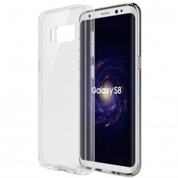 Kieto silikono (TPU) dėklas - skaidrus (Galaxy S8)