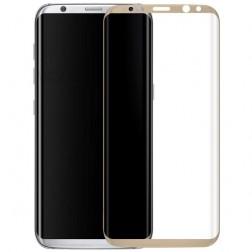 """""""Calans"""" 9H Tempered Glass pilnai dengiantis apsauginis ekrano stiklas 0.2 mm - auksinis (Galaxy S8+)"""
