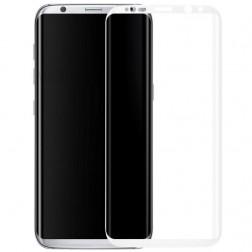 """""""Calans"""" 9H Tempered Glass pilnai dengiantis apsauginis ekrano stiklas 0.2 mm - baltas (Galaxy S8+)"""
