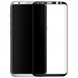"""""""Calans"""" 9H Tempered Glass pilnai dengiantis apsauginis ekrano stiklas 0.2 mm - juodas (Galaxy S8+)"""