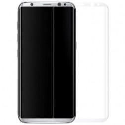 """""""Calans"""" 9H Tempered Glass pilnai dengiantis apsauginis ekrano stiklas 0.2 mm - skaidrus (Galaxy S8+)"""