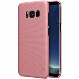 """""""Nillkin"""" Frosted Shield dėklas - rožinis + apsauginė ekrano plėvelė (Galaxy S8+)"""