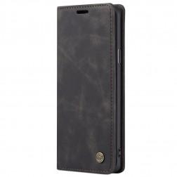 """""""CaseMe"""" Retro solidus atverčiamas dėklas - juodas (Galaxy S8+)"""