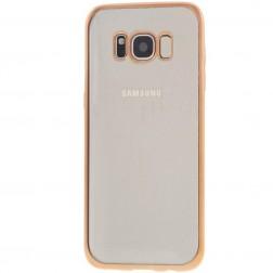Silikoninis skaidrus dėklas, auksinis (Galaxy S8+)