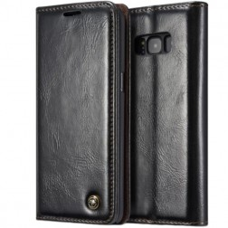 """""""CaseMe"""" solidus atverčiamas dėklas - juodas (Galaxy S8+)"""