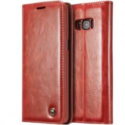 """""""CaseMe"""" solidus atverčiamas dėklas - raudonas (Galaxy S8+)"""