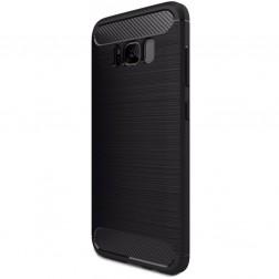 """""""Carbon"""" kieto silikono (TPU) dėklas - juodas (Galaxy S8+)"""