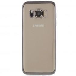 Silikoninis skaidrus dėklas, pilkas (Galaxy S8)
