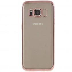 Silikoninis skaidrus dėklas, rožinis (Galaxy S8+)