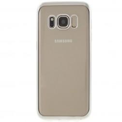 Silikoninis skaidrus dėklas, sidabrinis (Galaxy S8+)