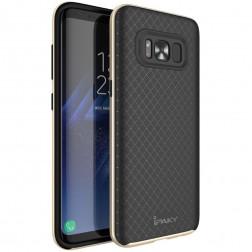"""""""IPAKY"""" kieto silikono (TPU) dėklas - juodas / auksinis (Galaxy S8+)"""