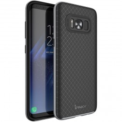"""""""IPAKY"""" kieto silikono (TPU) dėklas - juodas / pilkas (Galaxy S8+)"""