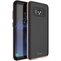 """""""IPAKY"""" kieto silikono (TPU) dėklas - juodas / rožinis (Galaxy S8+)"""