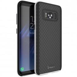 """""""IPAKY"""" kieto silikono (TPU) dėklas - juodas / sidabrinis (Galaxy S8+)"""