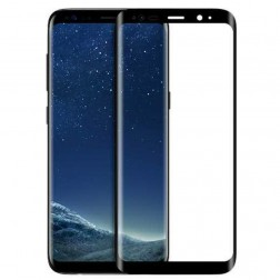"""""""HOCO"""" 9H Tempered Glass pilnai dengiantis apsauginis ekrano stiklas 0.2 mm - juodas (Galaxy S8+)"""