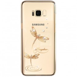 """""""Kingxbar"""" Dragonfly Swarovski dėklas - auksinis (Galaxy S8+)"""