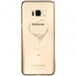 """""""Kingxbar"""" Love Swarovski dėklas - auksinis (Galaxy S8+)"""