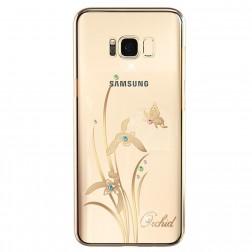 """""""Kingxbar"""" Orchid Swarovski dėklas - auksinis (Galaxy S8+)"""