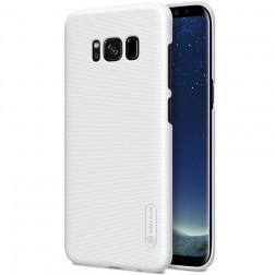 """""""Nillkin"""" Frosted Shield dėklas - baltas + apsauginė ekrano plėvelė (Galaxy S8+)"""