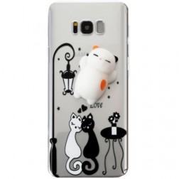 """""""Squezy"""" Cat kieto silikono (TPU) dėklas - skaidrus (Galaxy S8+)"""